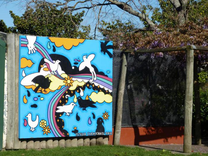 Mural at the aviary