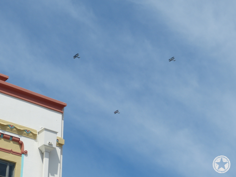 Fly-over up Emmerson Street, Napier