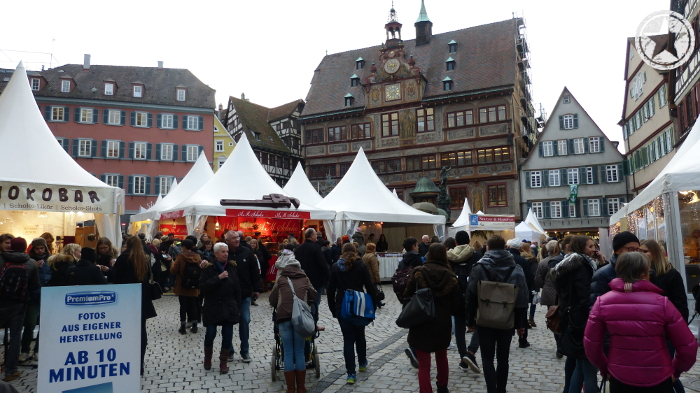 Tuebingen's Chocolate Festival as seen in the Market Square