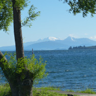 Lake Taupo looking toward the mountains