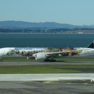 Air New Zealand Lord of the Rings painted airplane