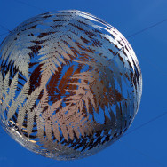 Spherical fern sculpture, Wellington