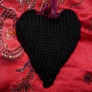 Machine-knitted heart