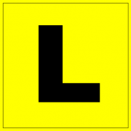 L plate for learner drivers