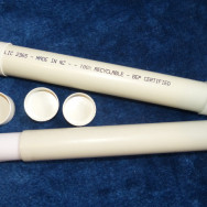 PVC tubing and end caps for travel tube