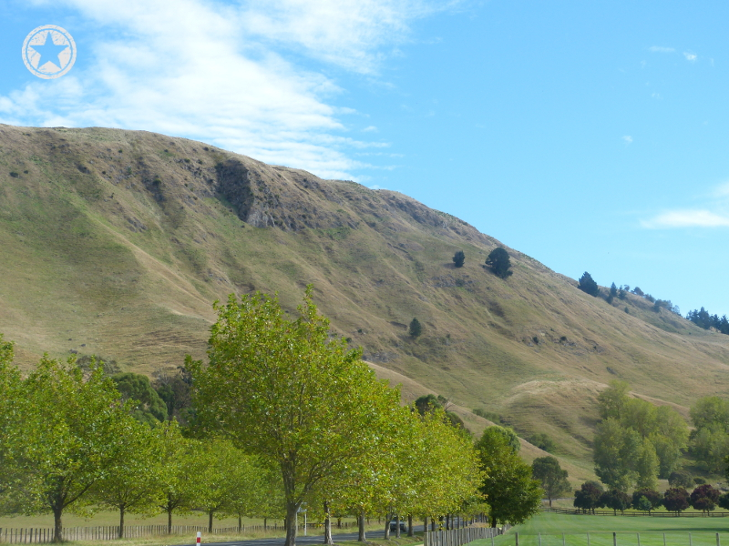 Facing north along the eastern side of Te Mata Peak